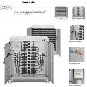 Armario para portátiles y netbooks con carga y doble acceso BASIC