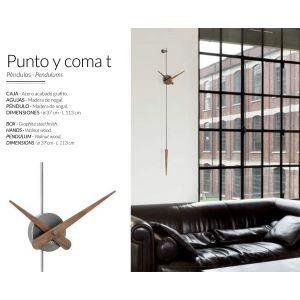 Reloj de pared con péndulo PUNTO Y COMA