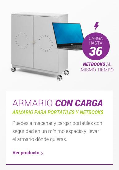 Armario con carga para portátiles y netbooks
